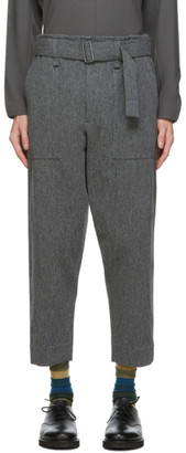 Issey Miyake Grey Wool Belted Trousers