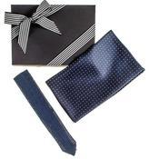 Black Silk Scarf and Knitted Silk Tie Gift Set