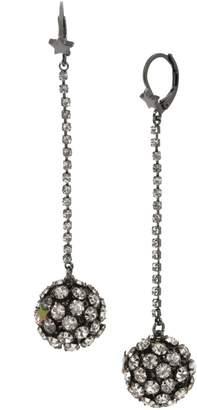 Betsey Johnson Fireball Linear Drop Earrings