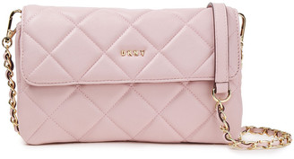 DKNY Chain-trimmed Quilted Faux Leather Shoulder Bag