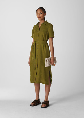 Bella Linen Shirt Dress