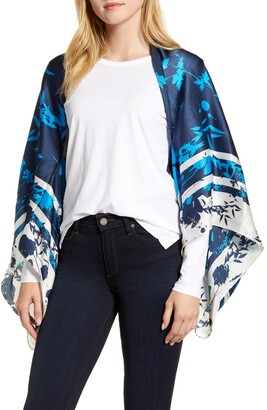 Ted Baker Bluebell Silk Cape Scarf