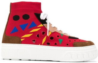 Casadei Abstract Print Sock Sneakers