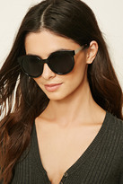 Forever 21 FOREVER 21+ Contrast Round Sunglasses
