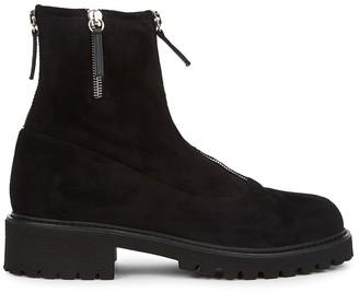 Giuseppe Zanotti Combat black suede ankle boots