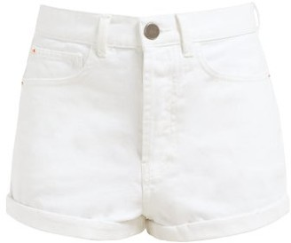 Raey Low Cut-off Denim Shorts - White