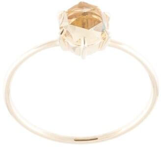 Natalie Marie 9kt yellow gold quartz Rose Cut ring