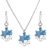 Body Candy Blue Celestial Love Star Dangle Necklace and Earring Set