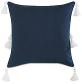 One Kings Lane Faye 20x20 Pillow - Indigo/White