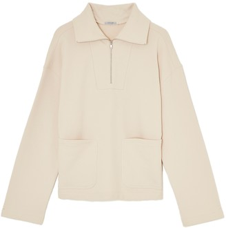 Jigsaw Cotton Zip Up Sweatshirt