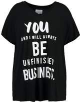 Zizzi Print Tshirt black
