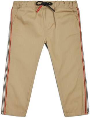 Burberry Stripe Cotton Trousers