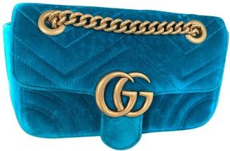 Gucci Marmont Green Velvet Handbags