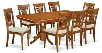 August Grove Pillsbury Modern 9 Piece Dining Set with Double Pedestal Table Legs August Grove