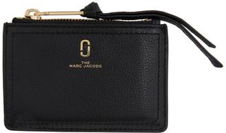 Marc Jacobs Black The Softshot Top Zip Card Holder