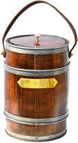 One Kings Lane Vintage English Oak Barrel-Form Ice Bucket