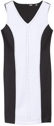 T Tahari Colorblock Studded Dress
