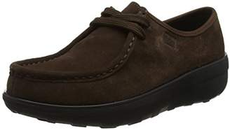 FitFlop Women's Loaff Lace-up Moccasin,(38 EU)