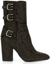 Laurence Dacade studded texture boots - women - Leather/Suede/Metal (Other) - 36