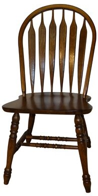 Darby Home Co Smithtown Premium Curved Arrowback Solid Wood Dining Chair