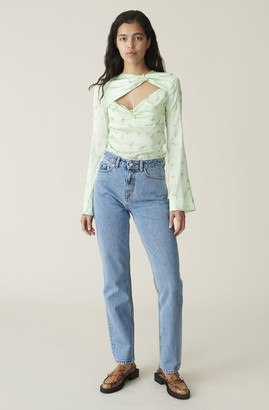 Ganni Washed Denim High-waisted Jeans