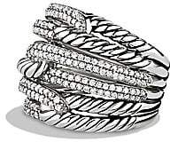 David Yurman Women's Labyrinth Triple-Loop Ring with Diamonds