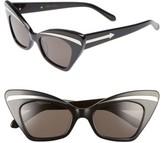 Karen Walker Women's Babou 50Mm Sunglasses - Black/ Silver