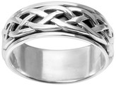 Celtic Daxx Men's Daxx Spinner Band in Sterling Silver (8mm)