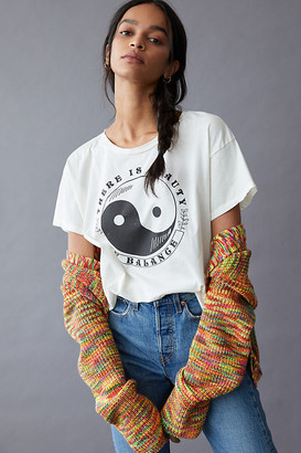 Beauty In Balance Graphic Tee By Midnight Rider in White Size XS