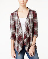 American Rag Plaid Crocheted-Back Cardigan, Only at Macy's