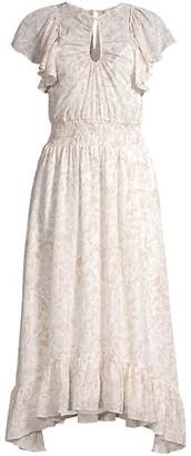 Rebecca Taylor Zadie Smocked Midi Dress
