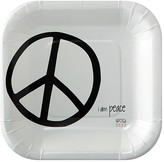 Peace Love World I am Peace® White Paper Dessert Plates