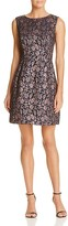 Betsey Johnson Metallic Floral Jacquard Dress