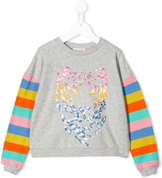 Twin Set Kids striped sleeve T-shirt