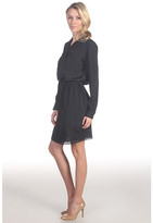 Suzi Chin for Maggy Boutique L/S Shirtdress w/ Laser Cut Hem
