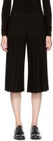 Neil Barrett Black Pleated Wide-leg Trousers