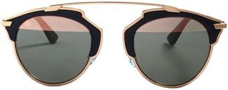 Christian Dior So Real Gold Metal Sunglasses
