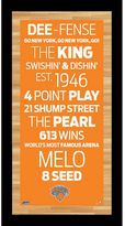 """Steiner Sports New York Knicks 19"""" x 9.5"""" Vintage Subway Sign with Game-Used Net"""