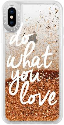 Casetify Do What You Do Glitter iPhone XS/X Case