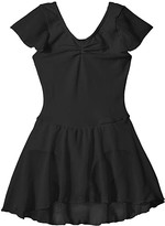 Capezio Flutter Sleeve Dress (Toddler/Little Kids/Big Kids) (Black) Girl's Jumpsuit & Rompers One Piece