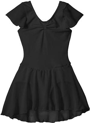 Capezio Flutter Sleeve Dress (Toddler/Little Kids/Big Kids) (Black) Girl's Jumpsuit & Rompers One Piece