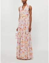 Max Mara Floral-print silk-chiffon maxi gown