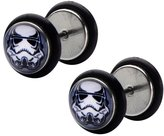 Star Wars Official Screw Back Earrings with Stormtrooper Design Graphic Front