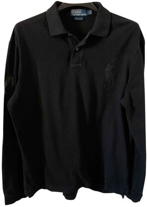 Polo Ralph Lauren Polo Rugby manches longues Black Cotton Polo shirts