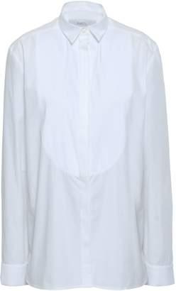 Racil Pleated Pique-paneled Cotton-poplin Shirt