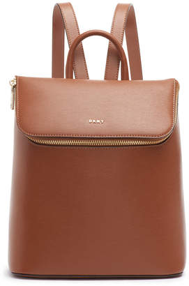DKNY Bryant Park Leather Top Zip Backpack