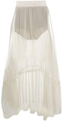 Soallure SO ALLURE glitter sheer tulle skirt
