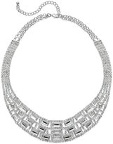 Charter Club Silver-Tone Glass Stone Collar Necklace