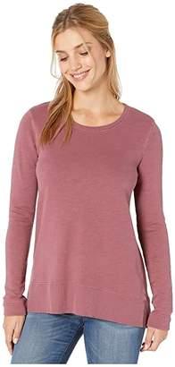 Mod-o-doc Mod O Doc Slub French Terry Long Sleeve Tunic (Fig) Women's Clothing