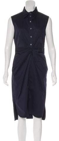 Christian Dior Pleated Midi Dress